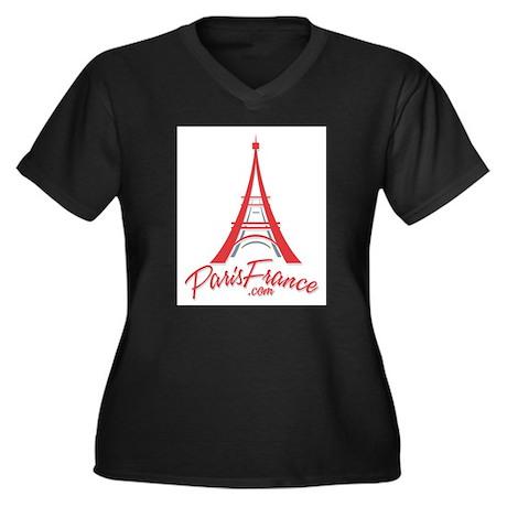 Paris France Original Merchan Women's Plus Size V-