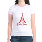 Paris France Original Merchan Jr. Ringer T-Shirt