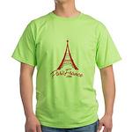 Paris France Original Merchan Green T-Shirt