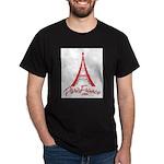 Paris France Original Merchan Dark T-Shirt