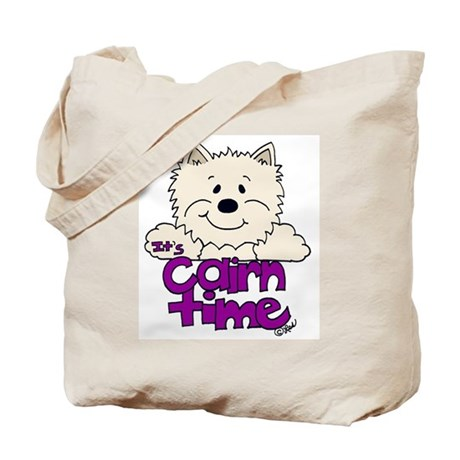 Big Cairn:Light Off White/Purple Tote Bag