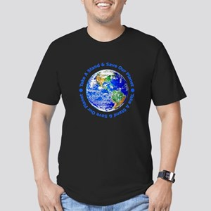 Save Our Planet! Men's Fitted T-Shirt (dark)