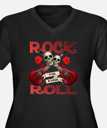 Real Rock N Roll 4 Ever Women's Plus Size V-Neck D