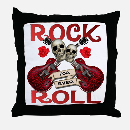 Real Rock N Roll 4 Ever Throw Pillow