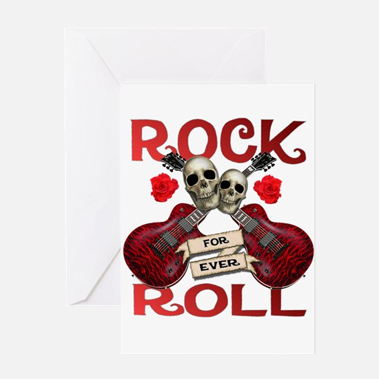 Real Rock N Roll 4 Ever Greeting Card
