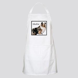 Sheltie With Breed Name BBQ Apron