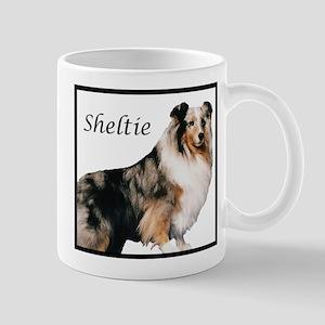 Sheltie With Breed Name Mug