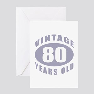 80th Birthday Gifts For Him Greeting Card