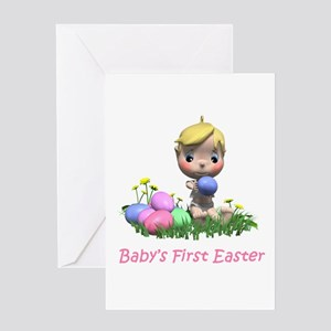 BABY'S FIRST EASTER Greeting Card