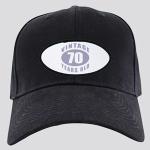 70th Birthday Gifts For Him Black Cap