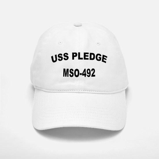 USS PLEDGE Baseball Baseball Cap