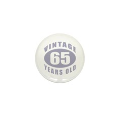 65th Birthday Gifts For Him Mini Button (10 pack)