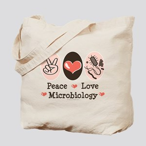Peace Love Microbiology Tote Bag