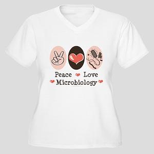 Peace Love Microbiology Women's Plus Size V-Neck T