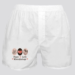 Peace Love Microbiology Boxer Shorts