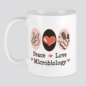 Peace Love Microbiology Mug