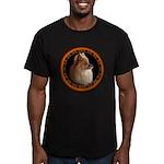 Pomeranian Dog Men's Fitted T-Shirt (dark)