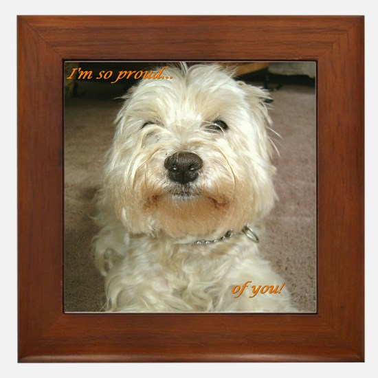 "Credible Critters Westie ""I'm so proud..."" Fr Tile"