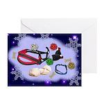 Christmas Doggy SugarPlums Cards (Pk of 10)