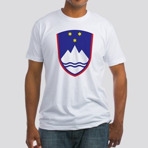 Slovenia Coat Of Arms Fitted T-Shirt