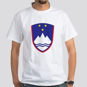 Slovenia Coat Of Arms White T-Shirt