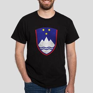 Slovenia Coat Of Arms Black T-Shirt