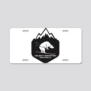 Holiday Mountain Ski & Fun Aluminum License Plate