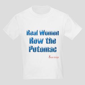 Real Women Row the Potomac Kids Light T-Shirt