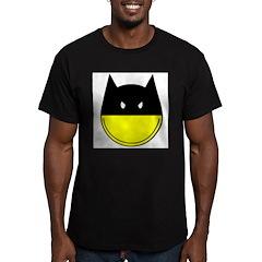 bat smiley Men's Fitted T-Shirt (dark)