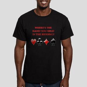 duplicate bridge gifts Men's Fitted T-Shirt (dark)