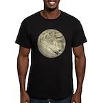 Shiba Inu Dog Men's Fitted T-Shirt (dark)