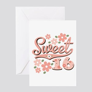 Happy sweet sixteen greeting cards cafepress pretty pink sweet 16 greeting card m4hsunfo