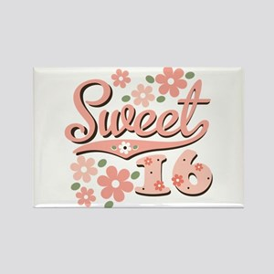 Pretty Pink Sweet 16 Rectangle Magnet