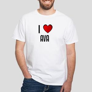 I LOVE AVA White T-Shirt