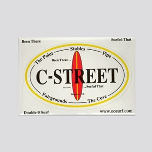 C-Street Surf Spots Rectangle Magnet