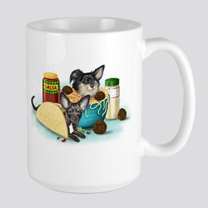 Taco-Paco & Meatball Chihuahu Large Mug