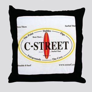 C-Street Surf Spots Throw Pillow