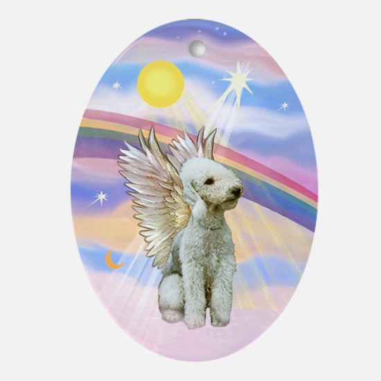 Bedlington Terrier Angel Keepsake (Oval)