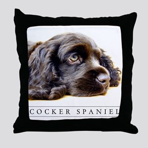 Black Cocker Spaniel Lover's Classic Throw Pillow