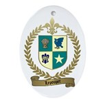 LEPOUPET Family Crest Oval Ornament