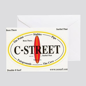 C-Street Surf Spots Greeting Cards (Pk of 10)