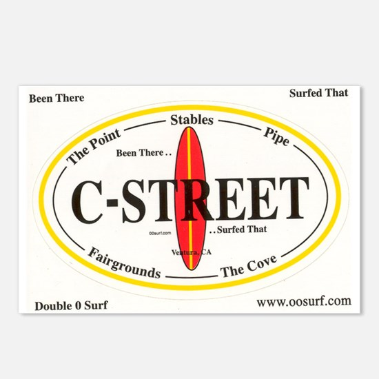 C-Street Surf Spots Postcards (Package of 8)