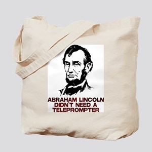 Abraham Lincoln Teleprompter Tote Bag