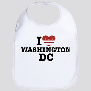 I Love Washington DC Bib