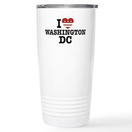 I Love Washington DC Stainless Steel Travel Mug