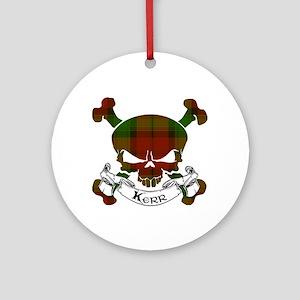 Kidd Tartan Skull Ornament (Round)