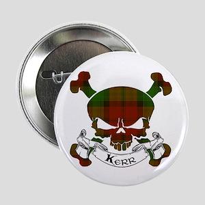 "Kidd Tartan Skull 2.25"" Button"
