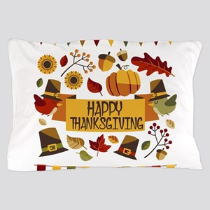 happy thanksgiving day! Pillow Case