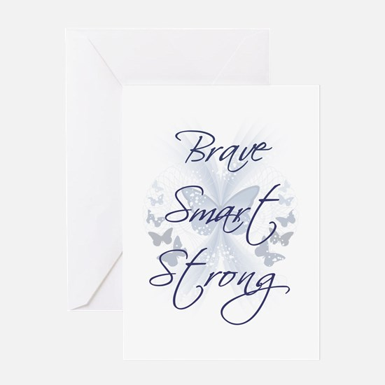 Brave Smart Strong Greeting Card
