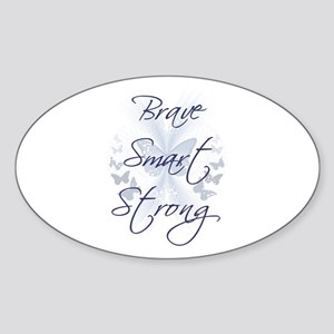Brave Smart Strong Oval Sticker